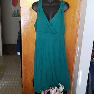 Merona Emerald green midi dress